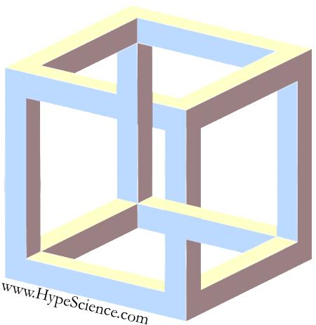 9098349b0d8fe O cubo impossível ou cubo irracional é um objeto impossível que é desenhado  sobre a ambigüidade apresentada em uma ilustração de um cubo de Necker.