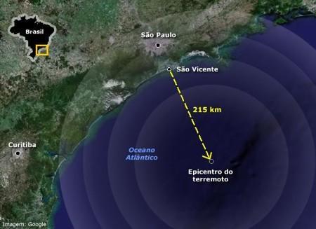 mapa do terremoto são paulo brasil