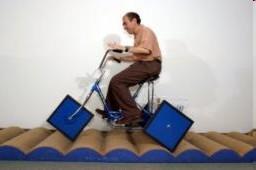 Bicicleta rodas quadradas