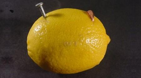 limão pilha experimento