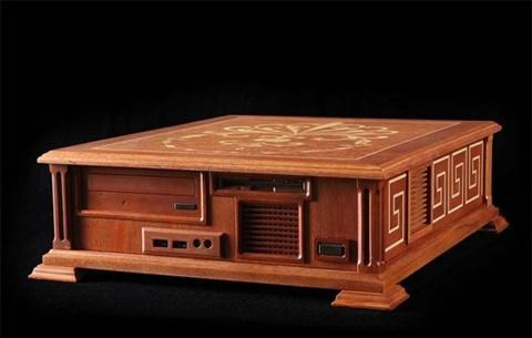 computador de madeira