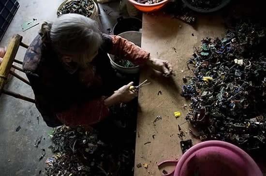 Lixo eletrônico em Guiyu na China