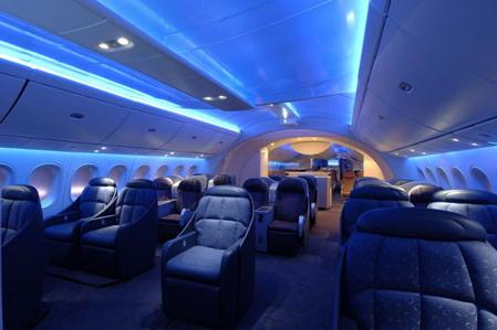Fotos boeing 787 dreamliner for Interieur boeing 757