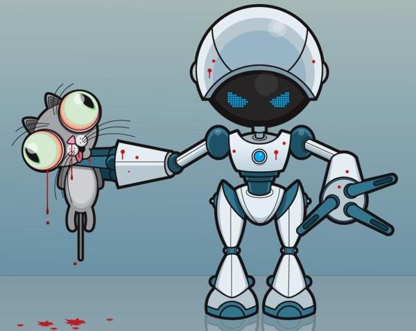 robô mau