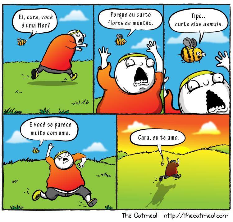 abelha persegue