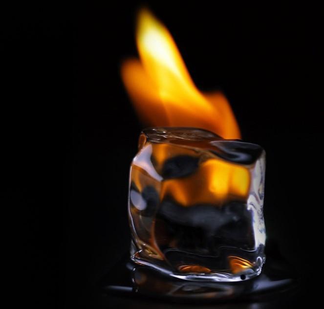 congelar agua com calor