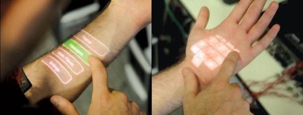 Seu braço pode virar uma tela touchscreen