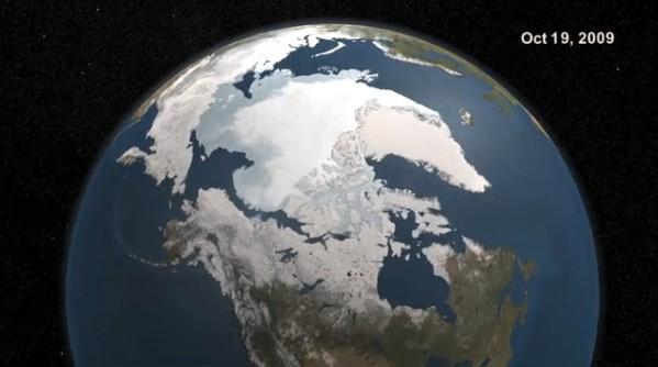 video planeta terra congelando virando picolé