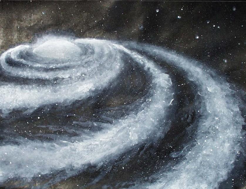 Via Láctea centro o que tem