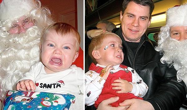 papai noel criança chorando