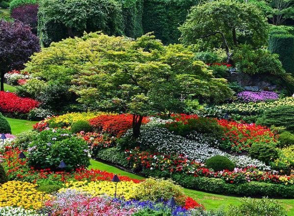 10 – Jardins de Butchart  Colúmbia Britânica, Canadá