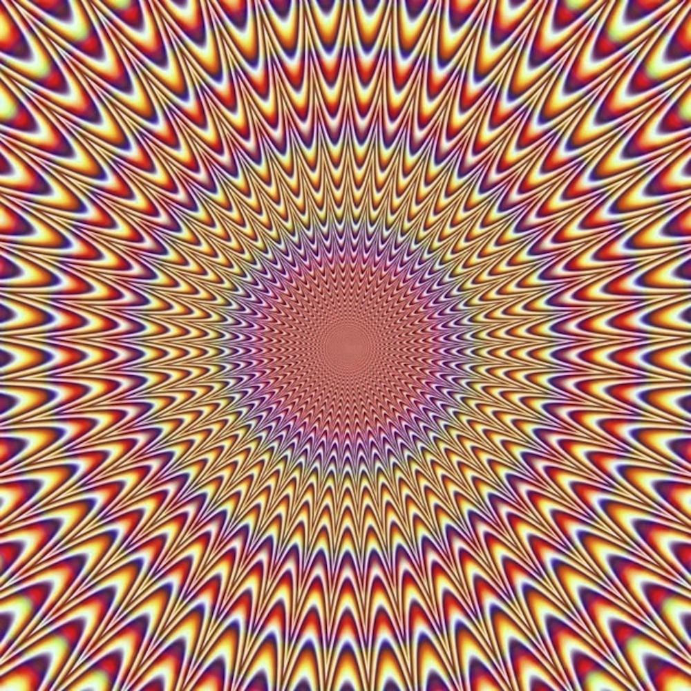 Olhei esta ilusão de óptica bizarra por cerca de um minuto e