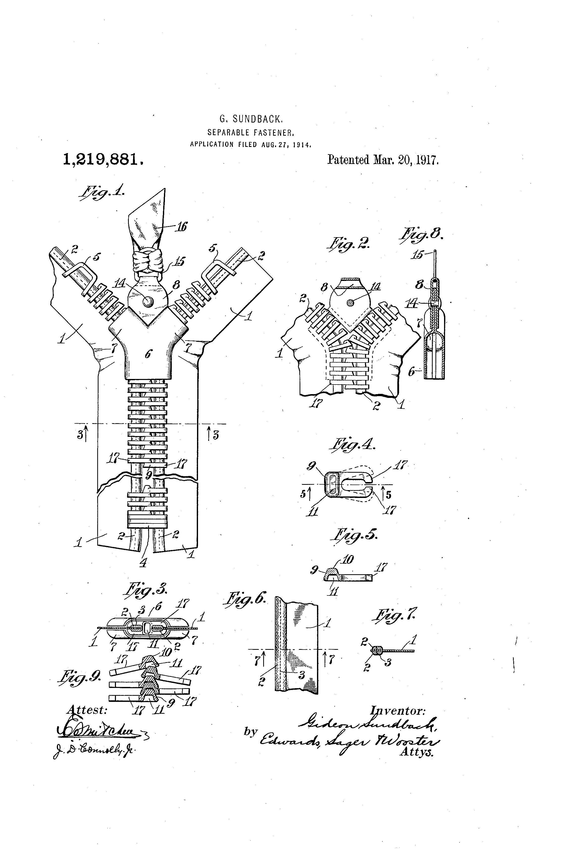 Gideon Sundback: O que ele inventou que você usa todos os dias