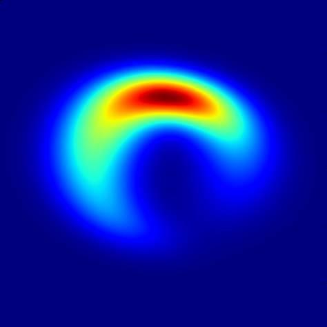 Esta imagem é a melhor previsão teórica das observações de Sgr A *, o buraco negro supermassivo no centro da nossa galáxia