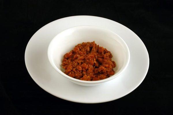 Chili enlatado - 189 gramas= 200 calorias