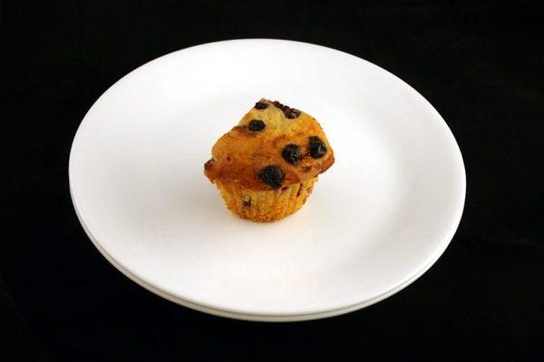 Muffin de mirtilo - 72 gramas= 200 calorias