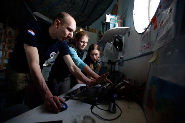 No início do trabalho, os pesquisadores planejam a expedição