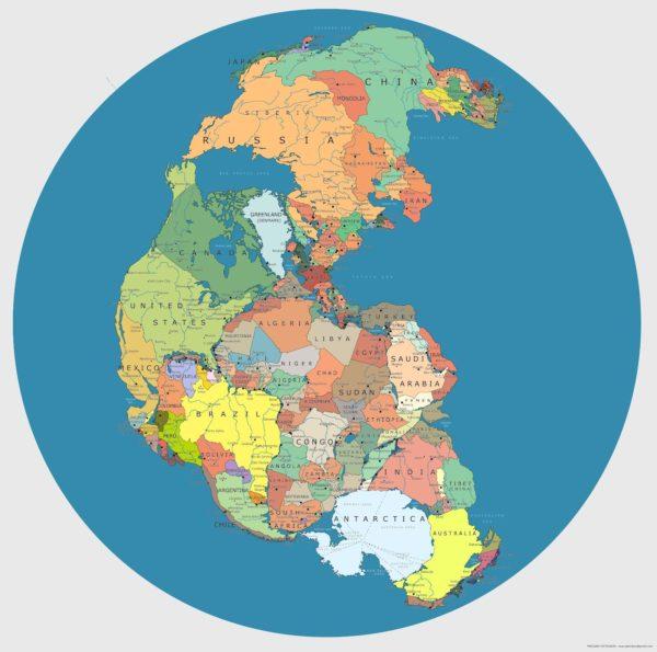 mapa politico pangeia