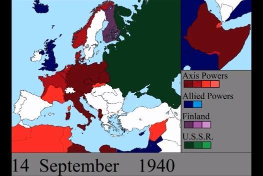 O interessante desenrolar diário da Segunda Guerra Mundial na Europa em 7 minutos: vídeo