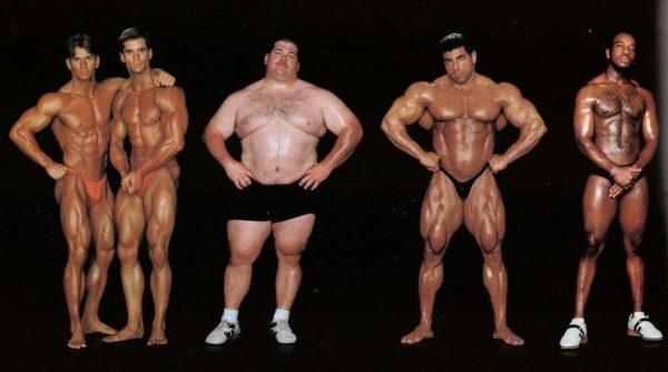 Corey e Chris Wheir, fisiculturistas, 1,78 m e 97 kg, e 1,83 m e 92 kg / Shane Hamman, levantador de pesos, 1,75 m e 168 kg / King Kamali, fisiculturista, 1,78 m e 112 kg / Oscar Shapling III, levantador de peso, 1,75 m e 77 kg