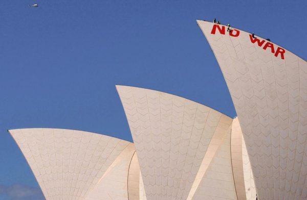 Sydney Opera House defaced by Graffiti