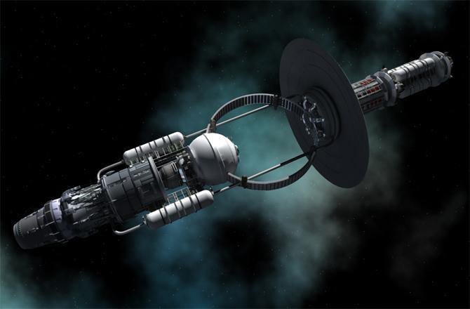 Buraco negro artificial nave