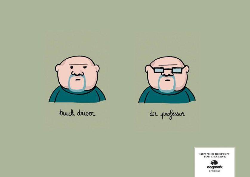 """Na esqueda: """"Caminhoneiro""""e na direito: """"Dr. Professor"""".  Agência LG&F, Bruxelas, Bélgica"""