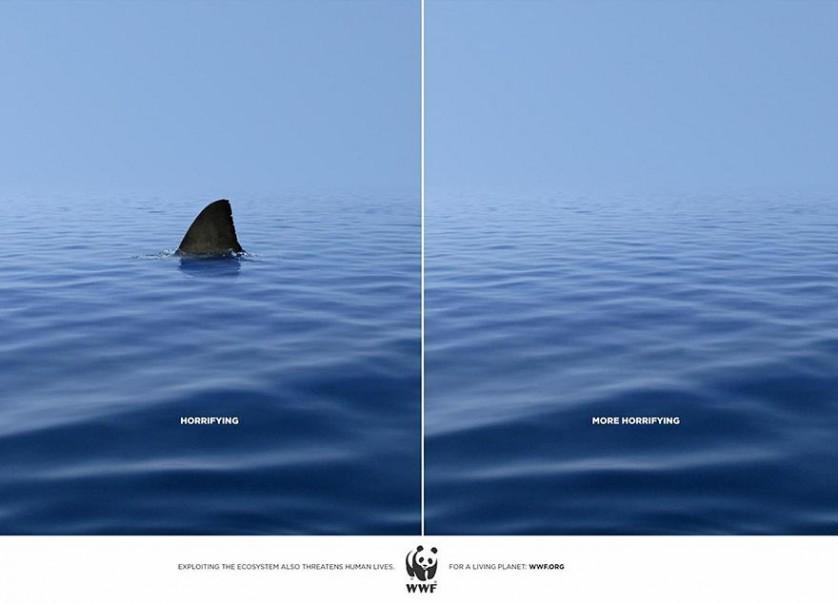 "Esquerda: ""Aterrorizante"", direita: ""Mais aterrorizante"". Agência DDB&CO.,Istanbul, Turquia."
