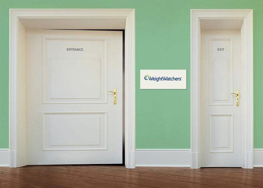 """Esquerda: """"Entrada"""", direita: """"Saída"""". Agência DraftFCB, Alemanha"""