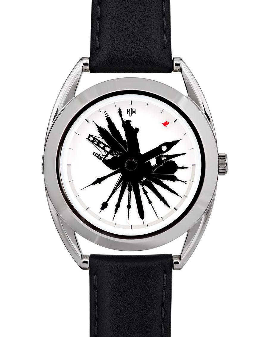 04d2de55950 Este relógio permite ver que horas são em qualquer lugar do mundo e é um  pouco diferente. Ele marca 24 horas com o topo
