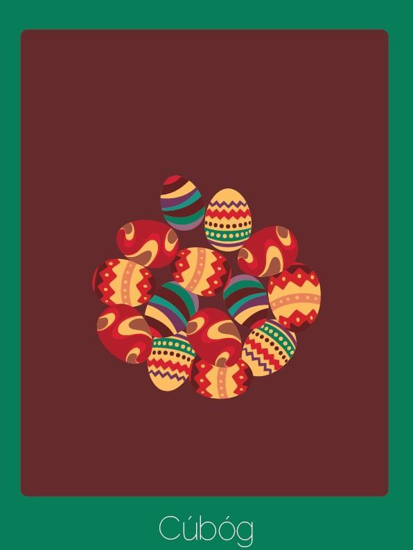 Palavra do irlandês que é um substantivo coletivo para ovos de Páscoa.