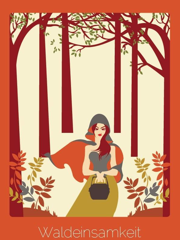 """Palavra do alemão que significa """"a sensação de estar sozinho nas florestas""""."""