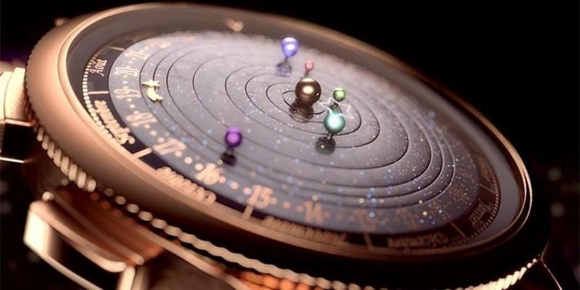 feadcab659d O Relógio Astronômico que mostra com precisão os movimentos do sistema  solar no seu pulso