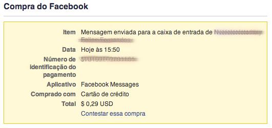 enviar mensagem facebook nao amigo recibo