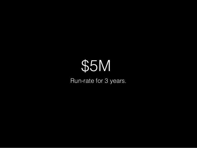 US$ 5 milhões.  Taxa de gerência para 3 anos.