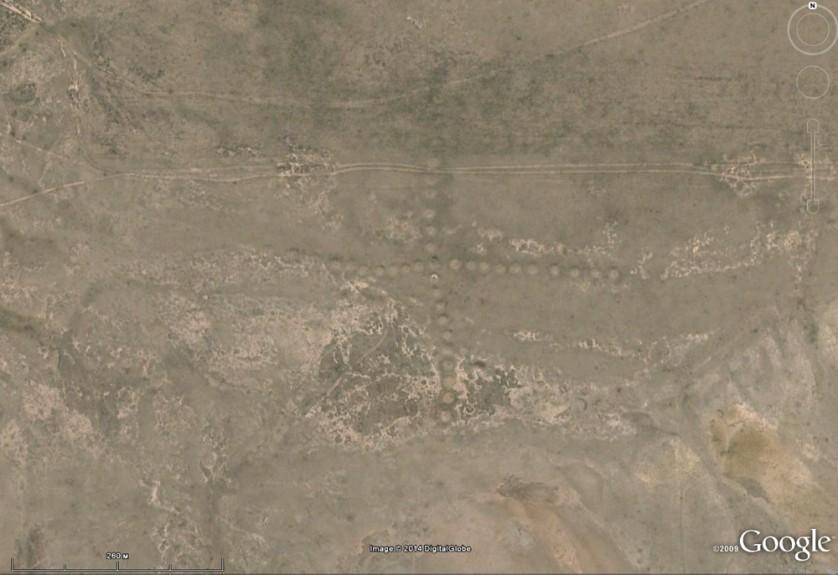 Suasticas gigantes e outras formas geometricas antigas são encontradas no Cazaquistao 3