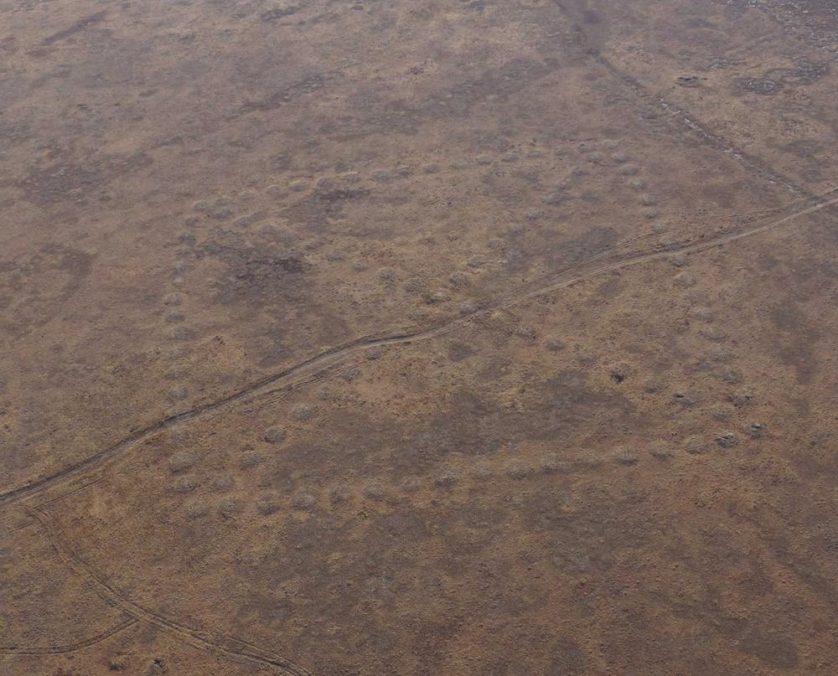 Suasticas gigantes e outras formas geometricas antigas são encontradas no Cazaquistao 4