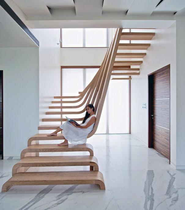 Well-known 22 escadas incríveis que vão te fazer desistir do elevador ZJ77