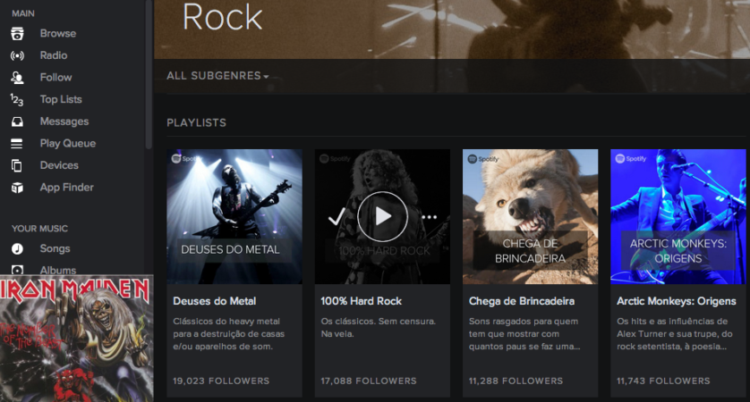 ouvir musica spotify
