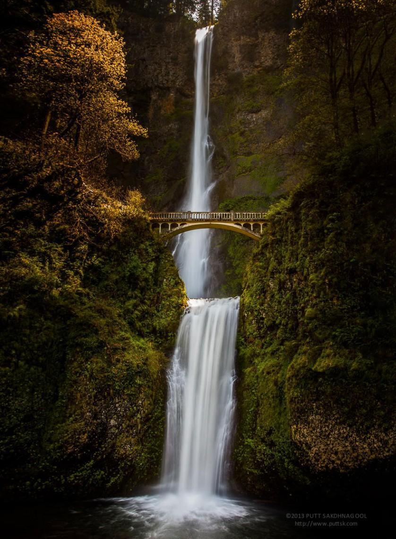 Cachoeiras Multnomah, em Oregon, nos Estados Unidos