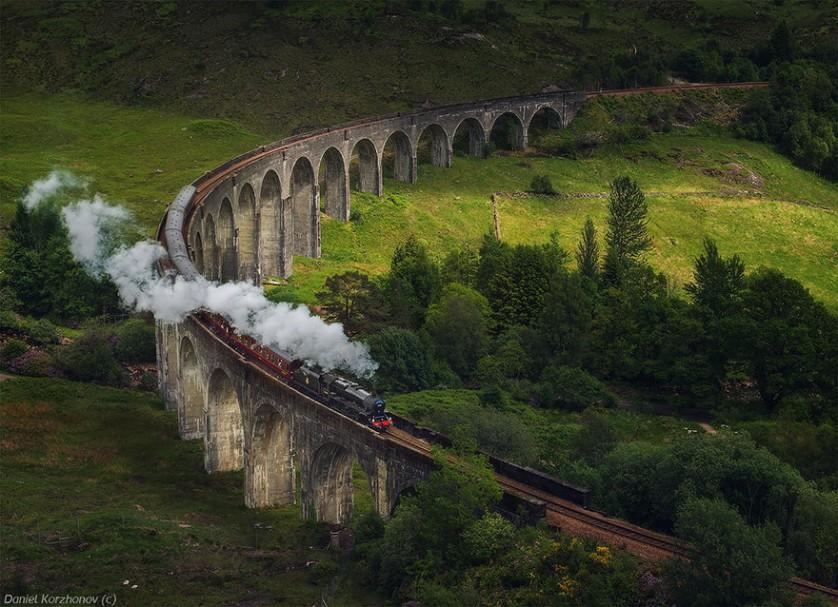 Glenfinnan Viaduct, na Escócia