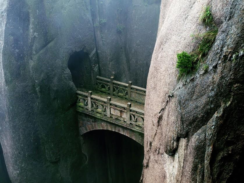 Huangshan, na China pontes incríveis 03