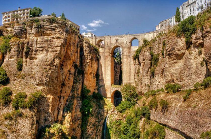 Ronda, em Málaga, na Espanha pontes paisagem