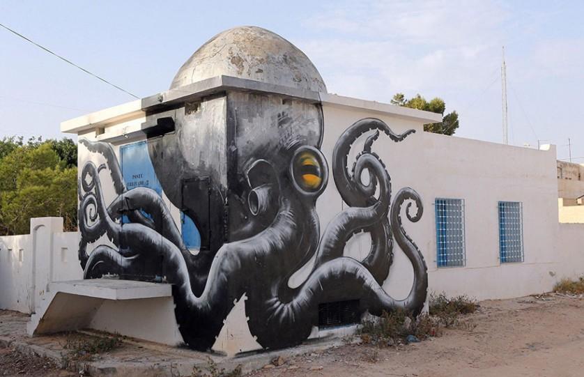 arte urbana na tunísia