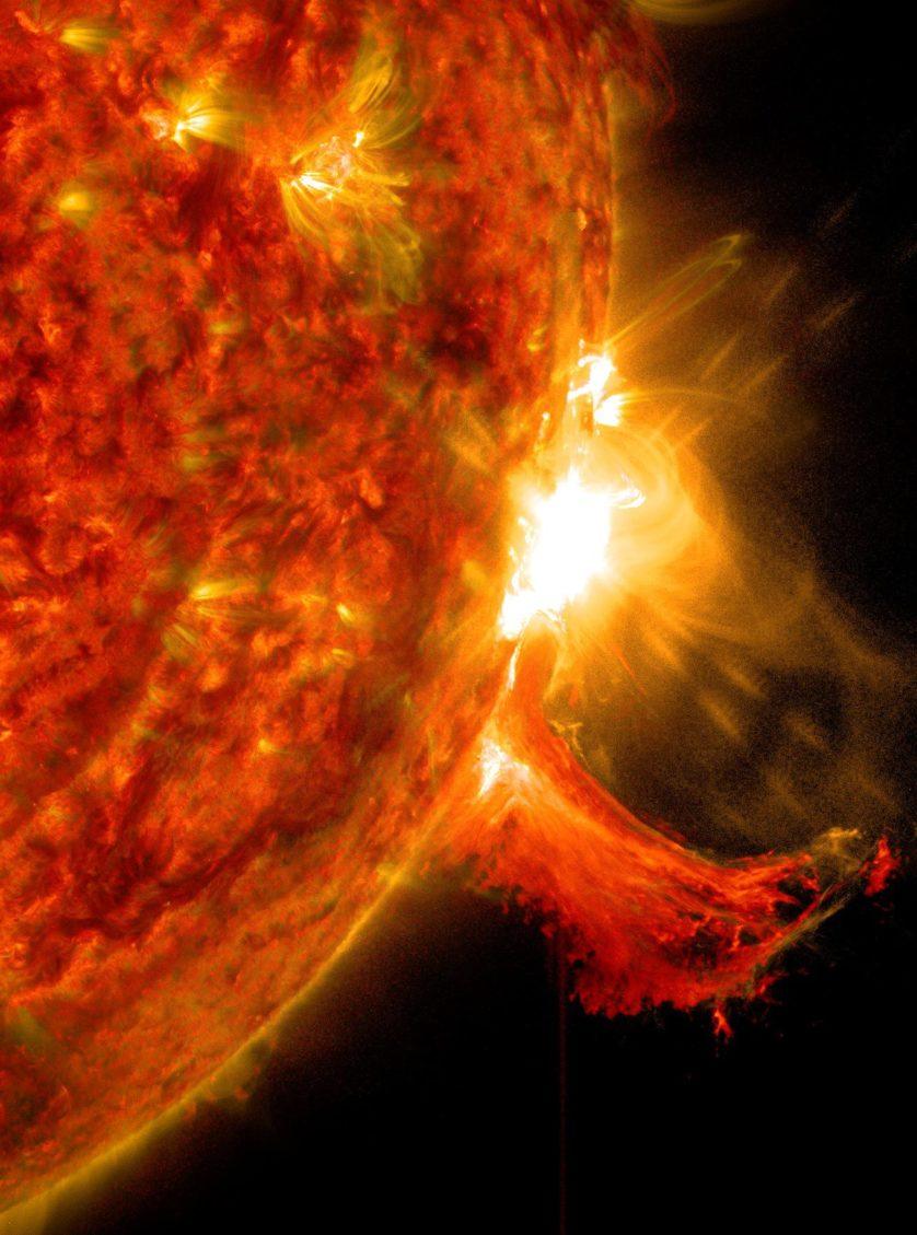 erupcao solar