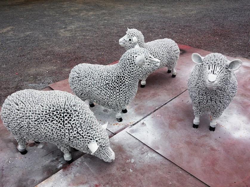 esculturas de sucata 10
