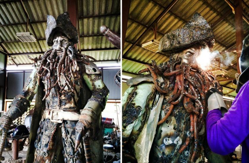esculturas de sucata 5