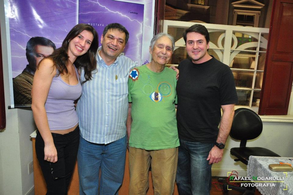 lançamento d'A Cor da tempestade - Lili, Musta, Andre e Cesar