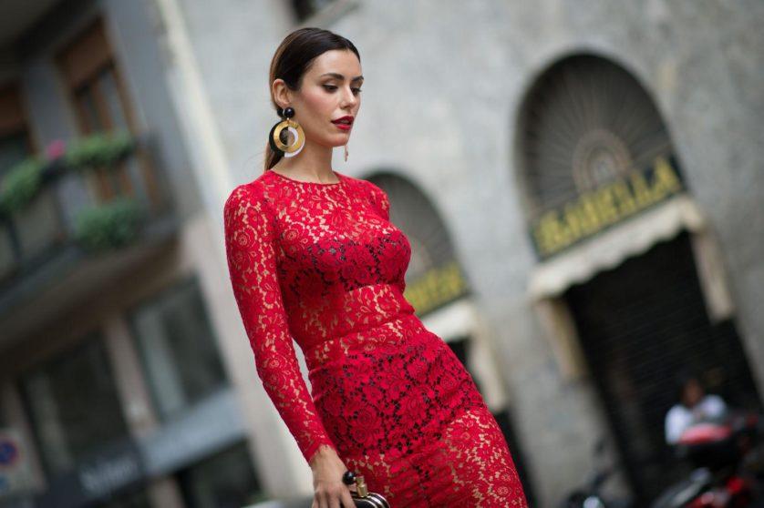 mulher vestir vermelho