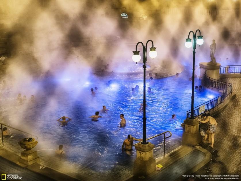 Termas em Budapeste, fotografadas por Triston Yeo, foi a imagem vencedora